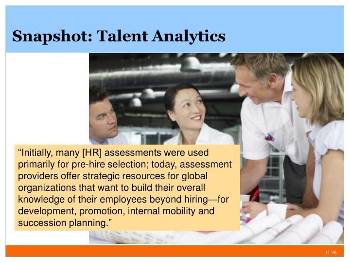 Snapshot: Talent Analytics