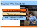 snapshot tivo households
