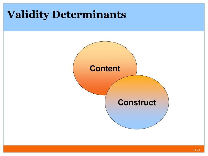 Validity Determinants