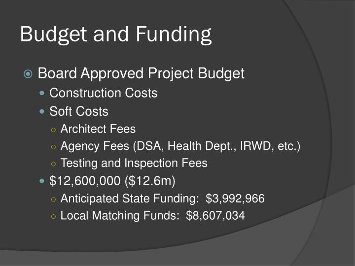 Budget and Funding