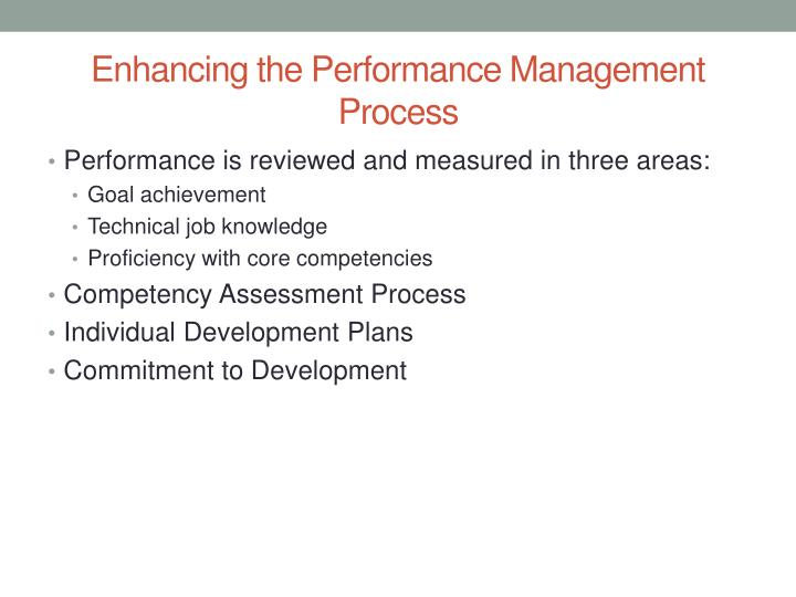 Enhancing the Performance Management Process