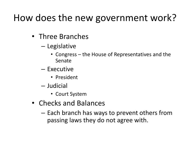 How does the new government work?