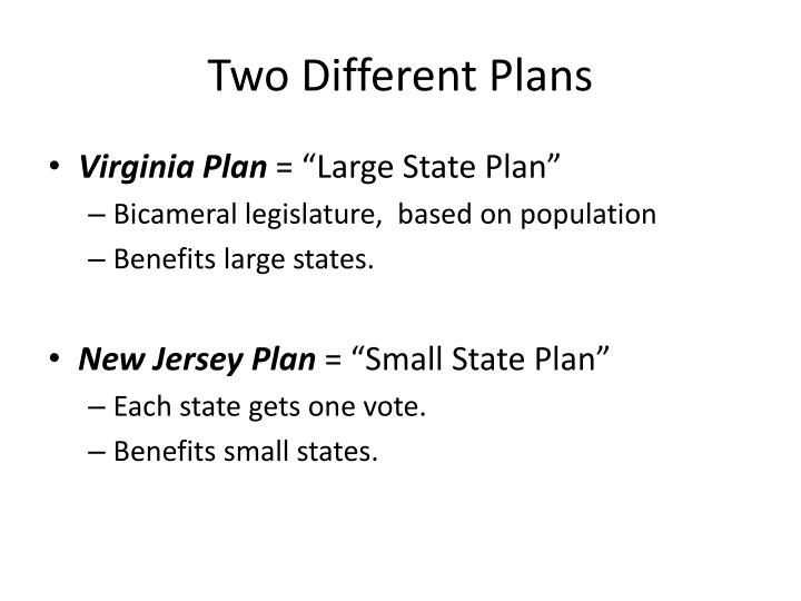 Two Different Plans