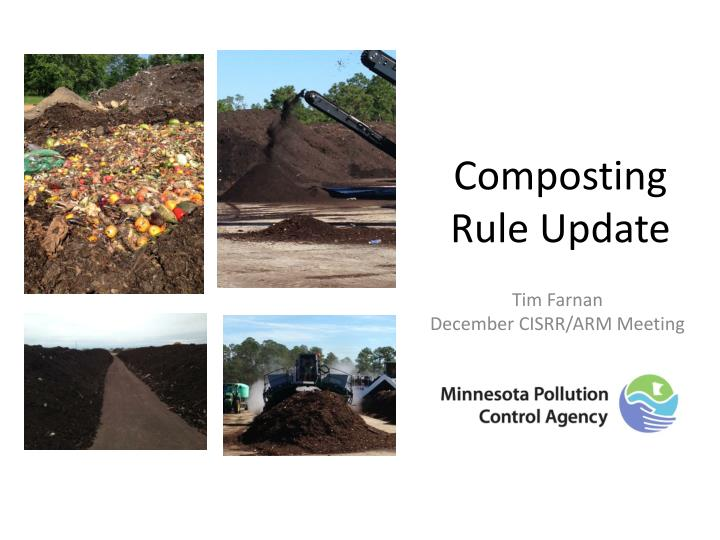 Composting rule update