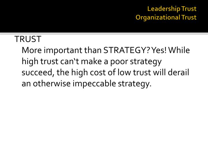 Leadership trust organizational trust1