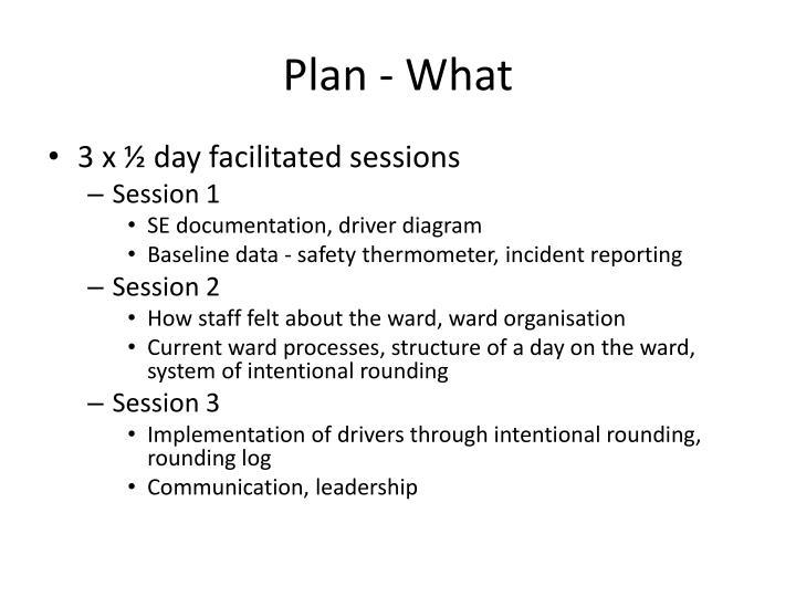 Plan - What