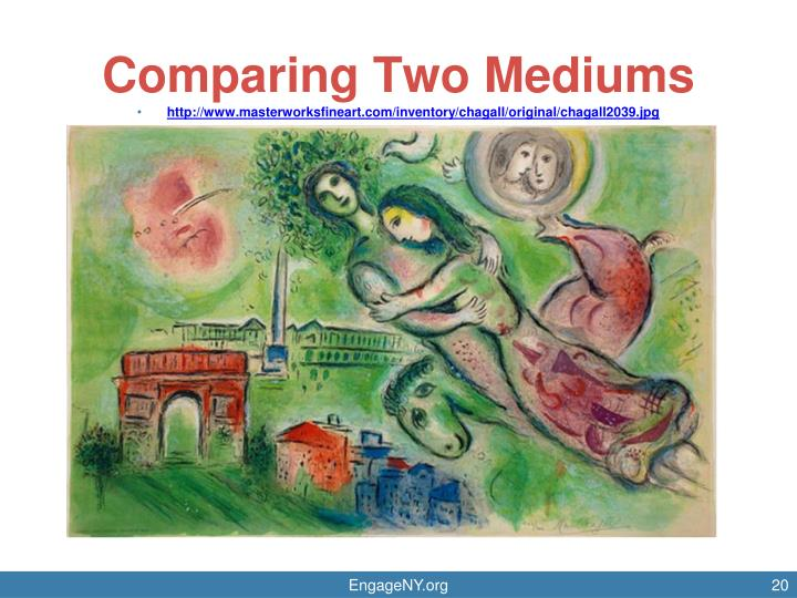 Comparing Two Mediums