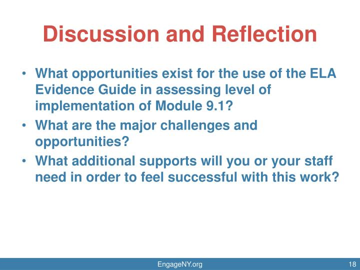 Discussion and Reflection