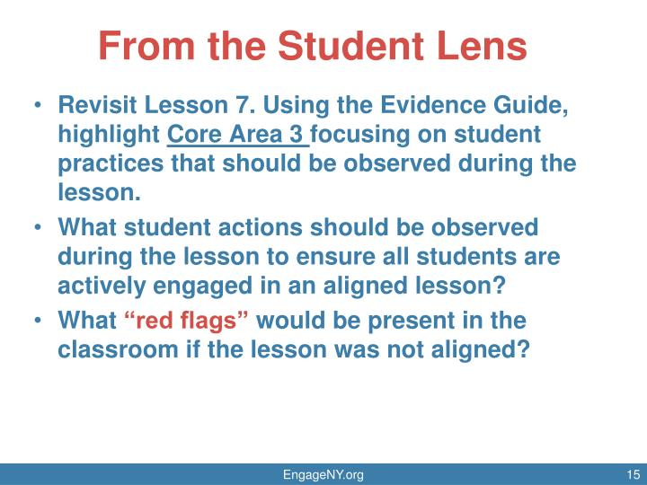 From the Student Lens