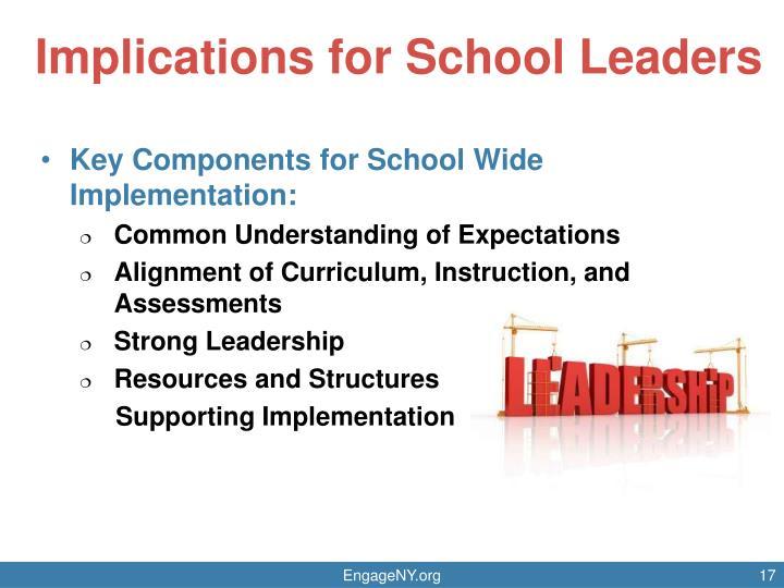 Implications for School Leaders