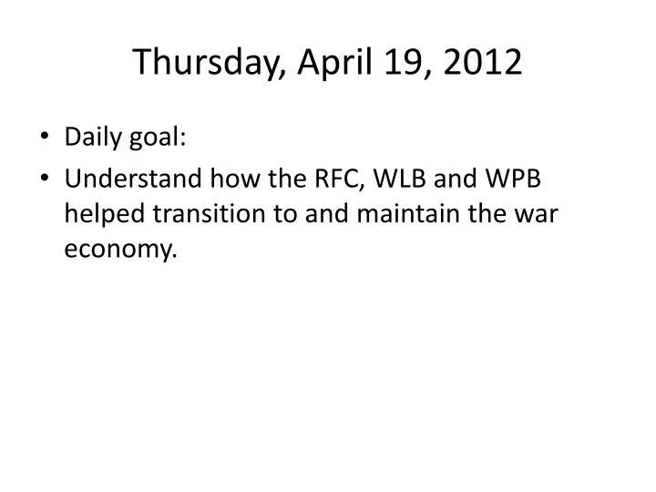 Thursday, April 19, 2012