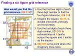 finding a six figure grid reference