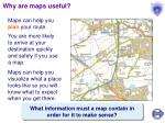 why are maps useful