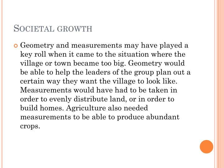 Societal growth