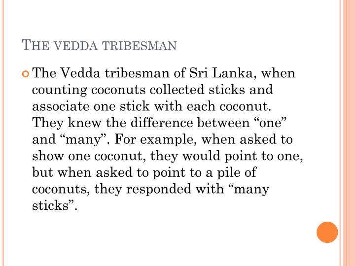 The vedda tribesman