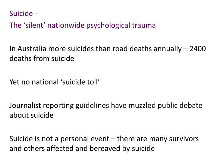 Suicide -