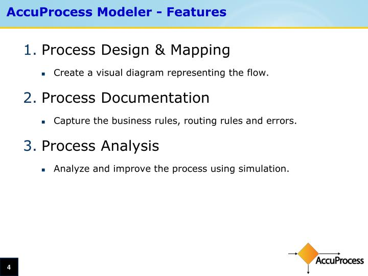AccuProcess Modeler - Features