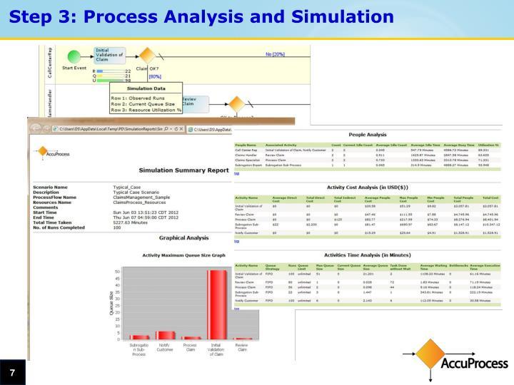 Step 3: Process Analysis and Simulation