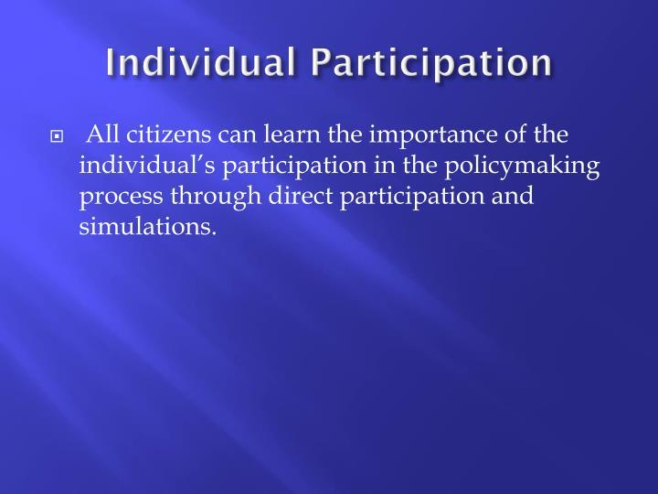 Individual Participation