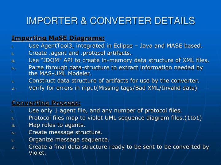 IMPORTER & CONVERTER DETAILS