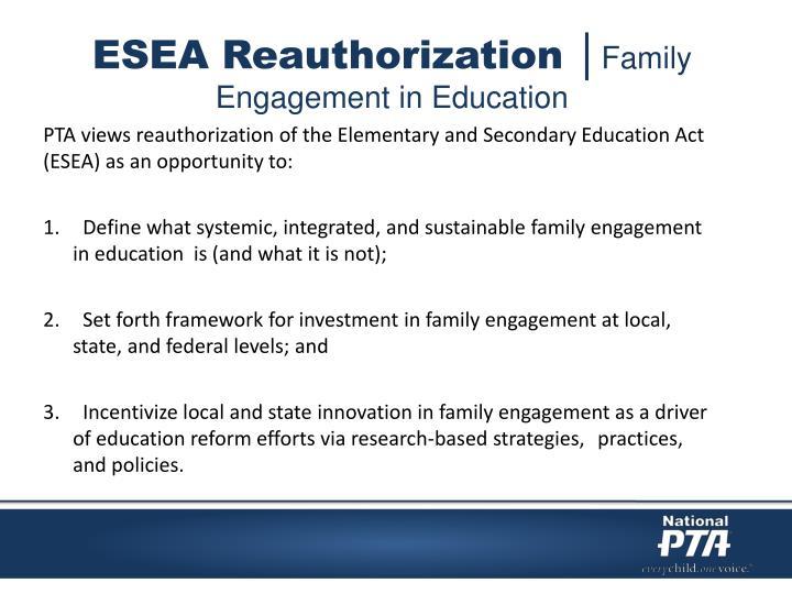 ESEA Reauthorization │