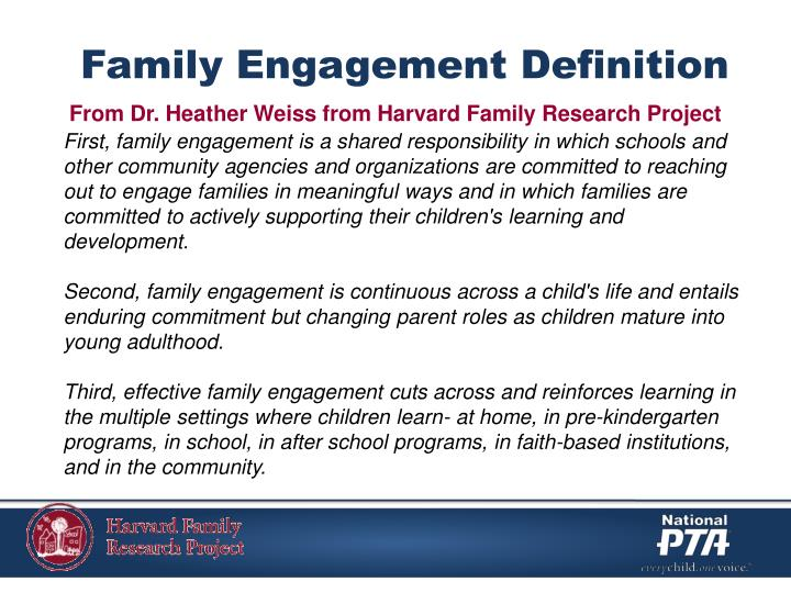 Family Engagement Definition
