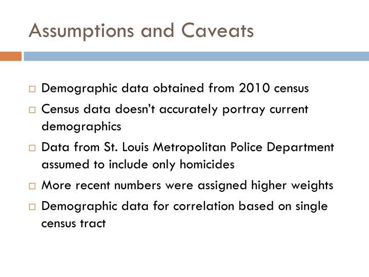 Assumptions and Caveats