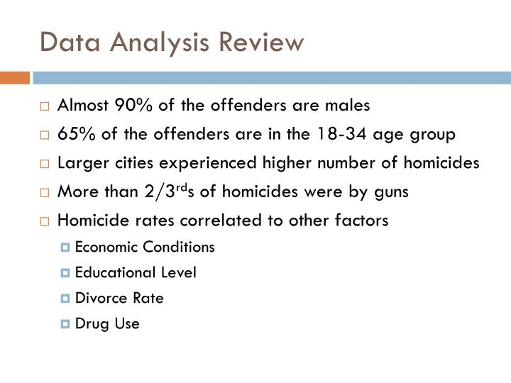 Data Analysis Review