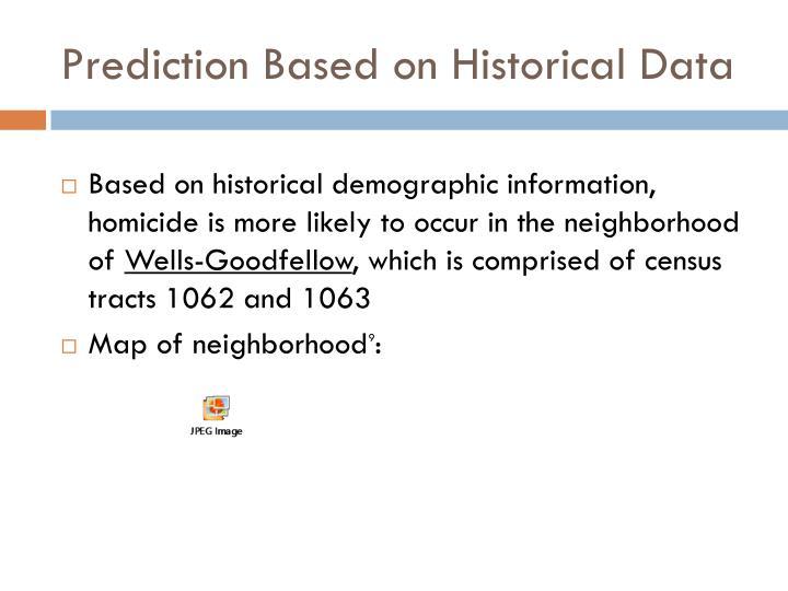 Prediction Based on Historical Data