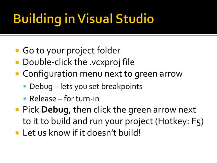 Building in Visual Studio