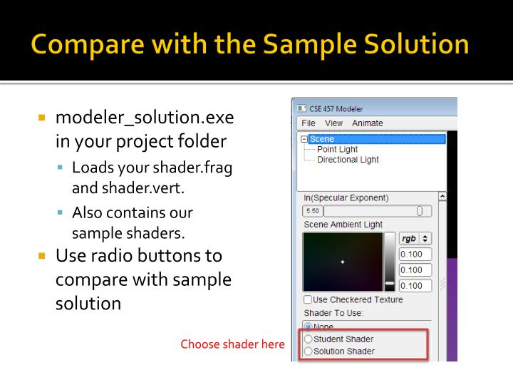 Compare with the Sample Solution