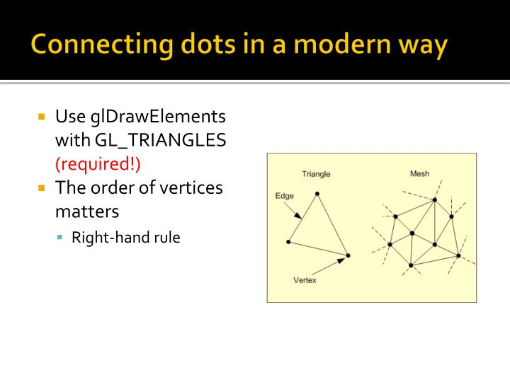 Connecting dots in a modern way