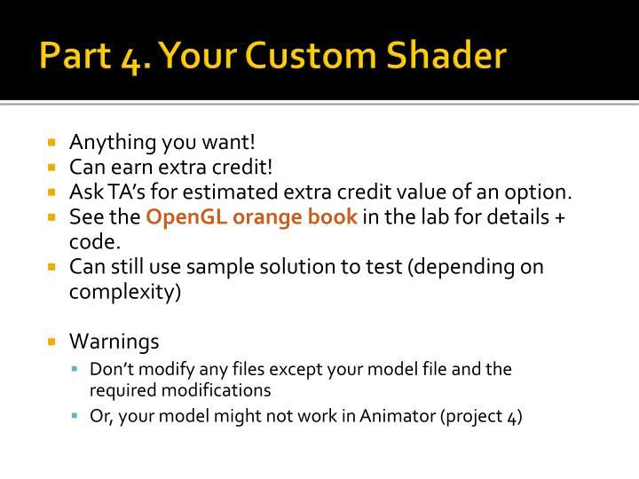 Part 4. Your Custom