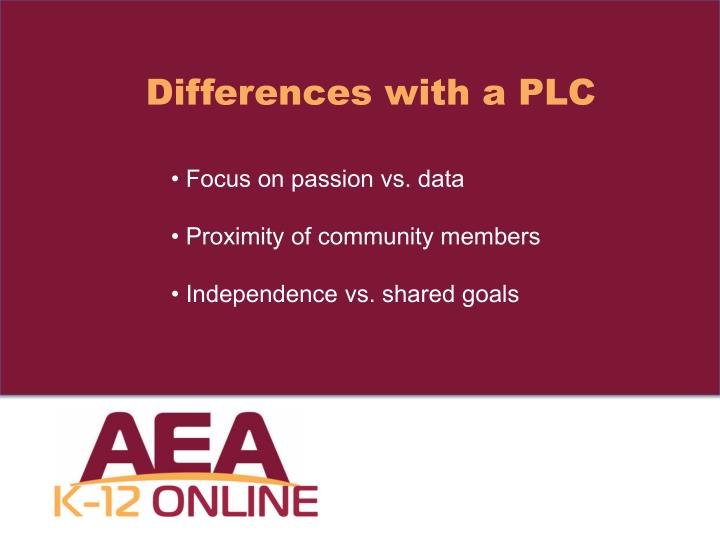 Differences with a PLC