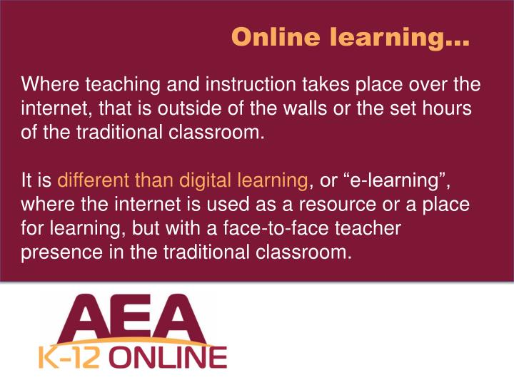 Online learning…