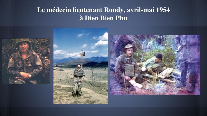 Le médecin lieutenant Rondy, avril-mai 1954