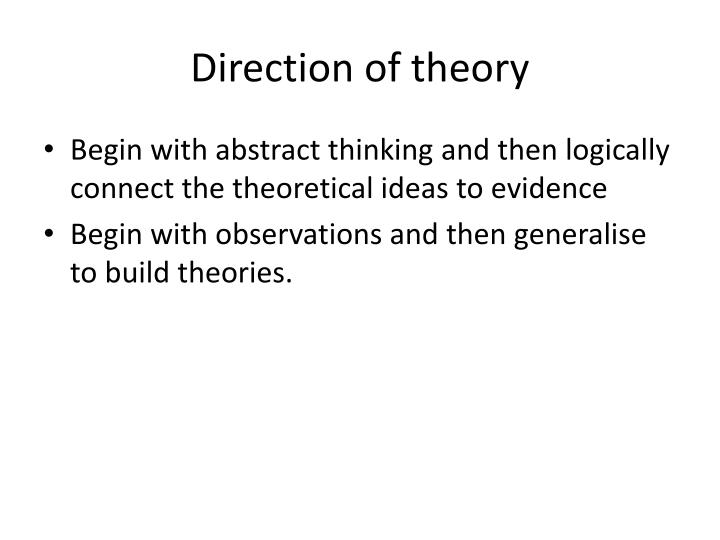 Direction of theory