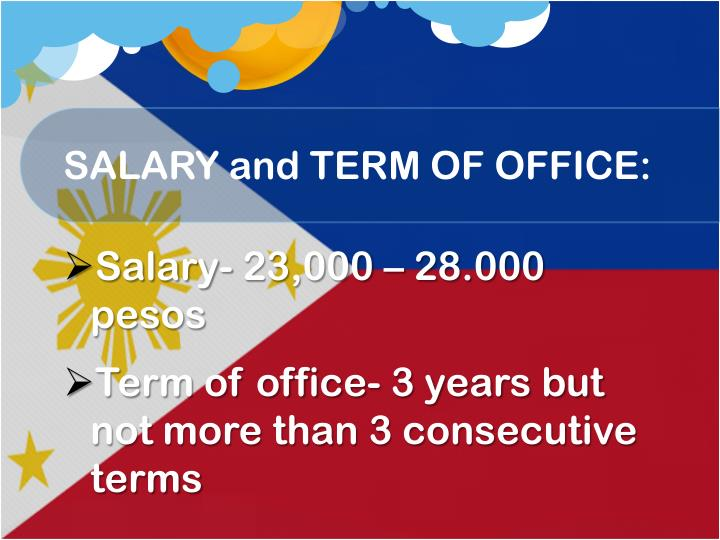 SALARY and TERM OF OFFICE:
