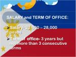 salary and term of office2