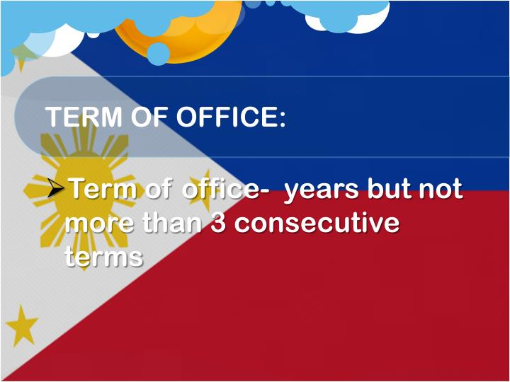 TERM OF OFFICE: