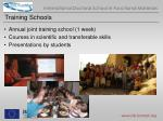 training schools