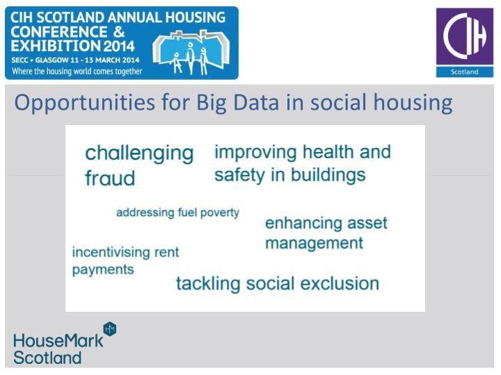 Opportunities for Big Data in social housing
