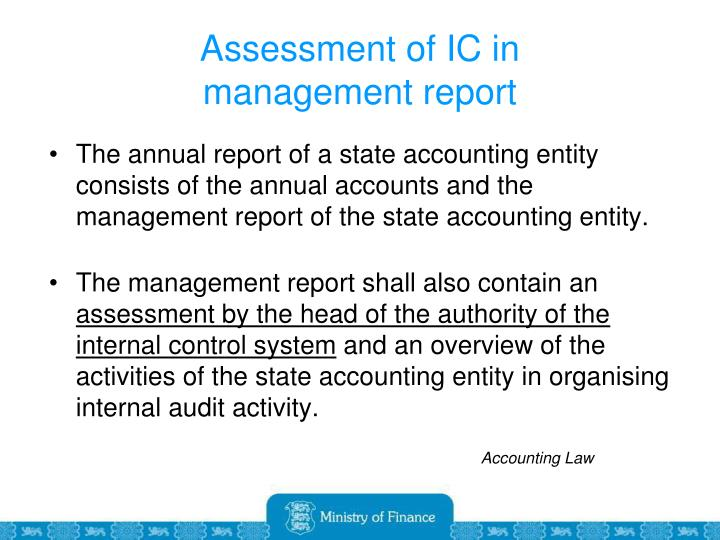 Assessment of IC in