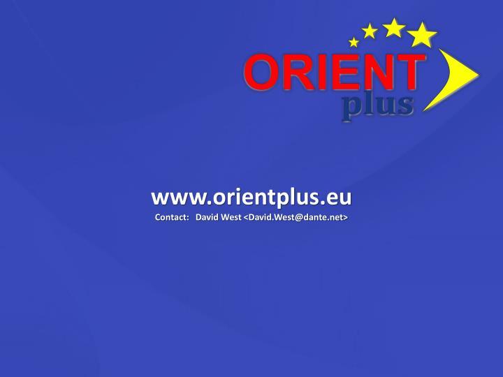 www.orientplus.eu