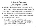 a simple example crossing the street