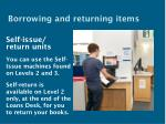 borrowing and returning items