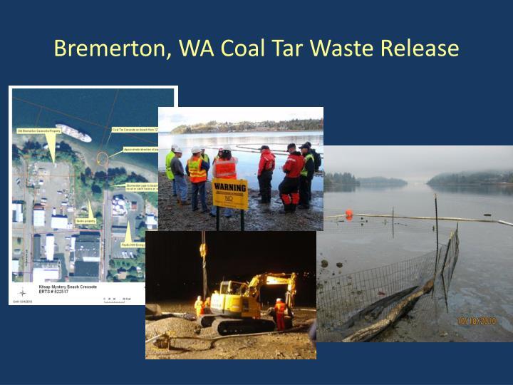 Bremerton, WA Coal Tar Waste Release