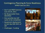 contingency planning force readiness nprep exercise 2011
