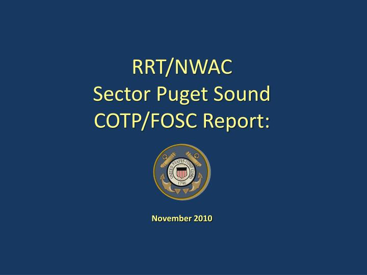 rrt nwac sector puget sound cotp fosc report