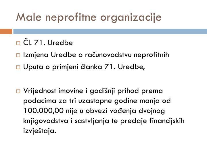 Male neprofitne organizacije